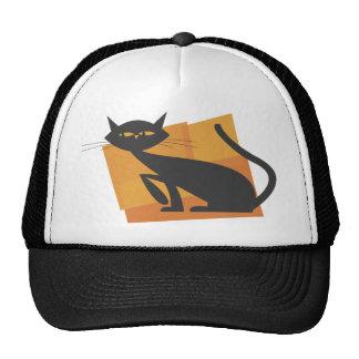 Retro Black Cat Hat