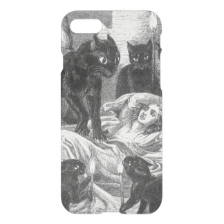 Retro black cat party drawing iPhone 7 case
