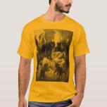 Retro black cat party drawing T-Shirt