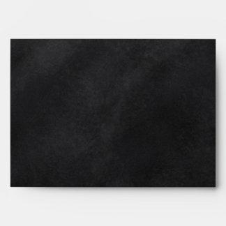 Retro Black Chalkboard Texture Envelope