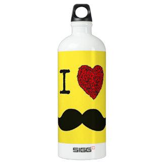 Retro Black Handlebar I love Mustache SIGG Traveler 1.0L Water Bottle