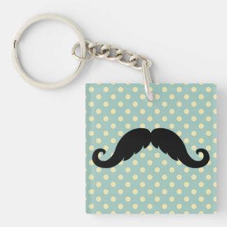 Retro Black Handlebar Mustache Moustache Acrylic Keychains