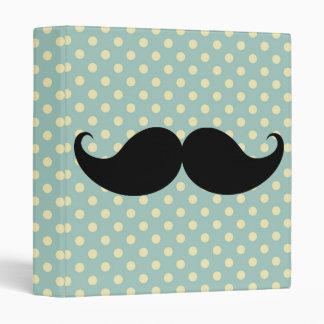 Retro Black Handlebar Mustache Moustache Stache Binder