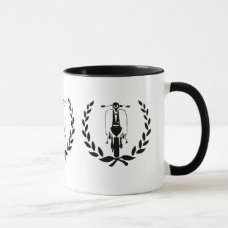 Retro Black Scooter inside laurel Mug