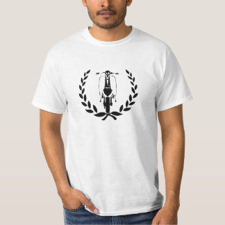 Retro Black Scooter inside laurel T-shirt