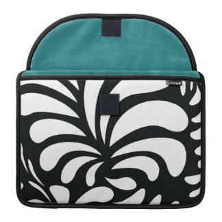 Retro black swirls Rickshaw macbook pro sleeve
