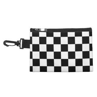 Retro Black/White Contrast Checkerboard Pattern Accessories Bags