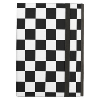 Retro Black/White Contrast Checkerboard Pattern Cover For iPad Air