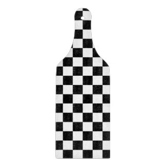 Retro Black/White Contrast Checkerboard Pattern Cutting Board