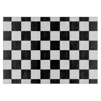 Retro Black/White Contrast Checkerboard Pattern Cutting Board