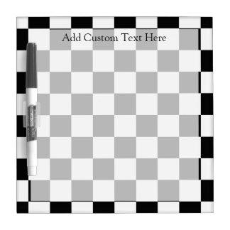 Retro Black/White Contrast Checkerboard Pattern Dry-Erase Board