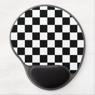 Retro Black/White Contrast Checkerboard Pattern Gel Mouse Pad
