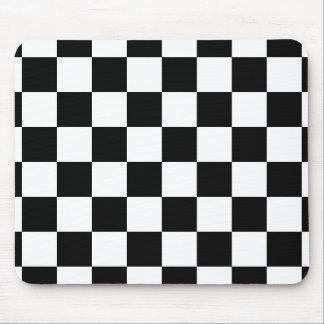 Retro Black/White Contrast Checkerboard Pattern Mouse Pad
