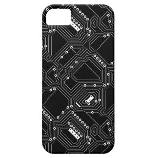 Retro Black White Cool Computer Circuit Board iPhone SE/5/5s Case