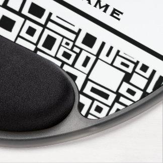 Retro Black White Square Pattern Gel Mouse Pad