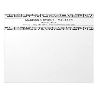 Retro Black White Square Pattern Notepad