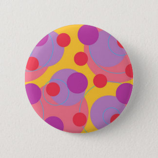 Retro Blackberry Fun Bubbly Dots Colorful Button