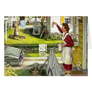 Retro Blank Card Neighborhood Open House Welcome