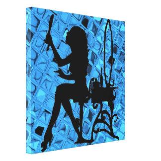 Retro Bling Pretty Sassy Sissy Girl Shiny Mirror Canvas Print