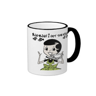 Retro Bling Ring Ringer Coffee Mug