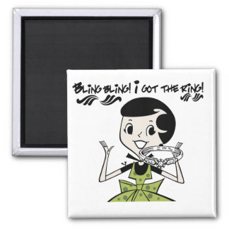 Retro Bling Ring Tshirts and Gifts Magnet