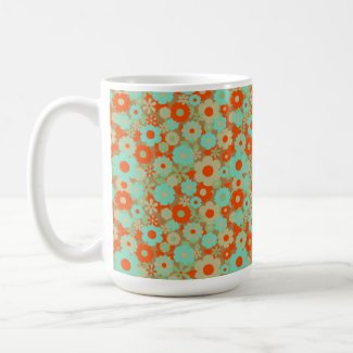 Retro Blissful Design - Coffee/Tea Large Mug mug