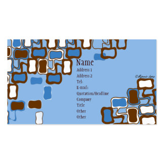 Retro Blob Double-Sided Standard Business Cards (Pack Of 100)