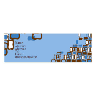 Retro Blob Double-Sided Mini Business Cards (Pack Of 20)