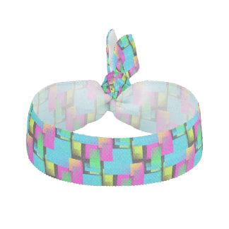 Retro Block Pattern Elastic Hair Tie