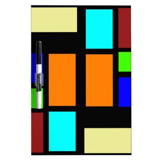 Retro Blocks Dry-Erase Whiteboard