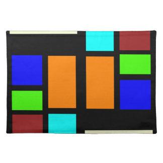 Retro Blocks Place Mat