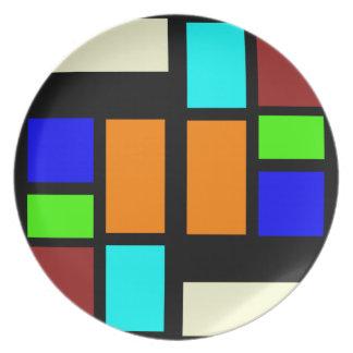 Retro Blocks Plate