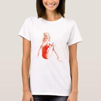 Retro Blonde Pin Up Girl T-Shirt