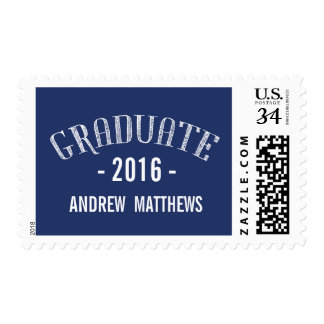 Retro Blue | 2016 Graduation Postage