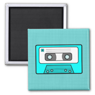 "Retro Blue 80""s Mixtape Magnet"