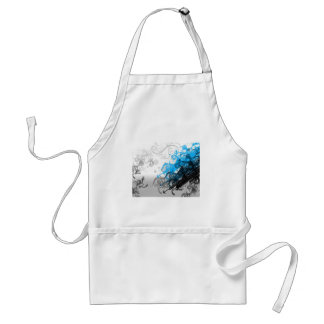 Retro Blue Abstract Adult Apron
