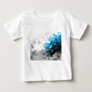 retro blue abstract design baby T-Shirt