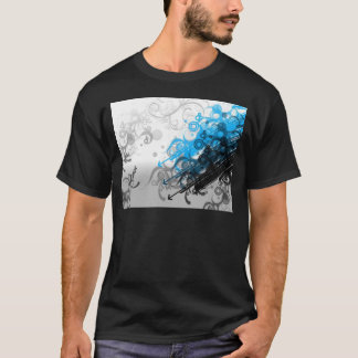 retro blue abstract design T-Shirt
