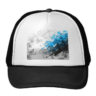 Retro Blue Abstract Mesh Hat