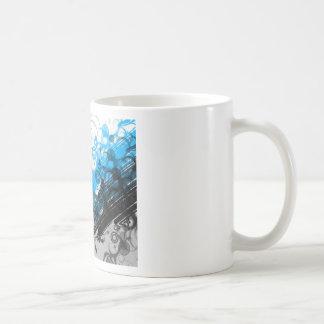 Retro Blue Abstract Mug