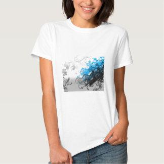 Retro Blue Abstract T-shirt