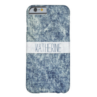 Retro Blue Acid Wash Denim Jean, Blue Jean Texture Barely There iPhone 6 Case