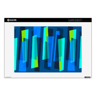 Retro Blue and Green Abstract Print Laptop Skin