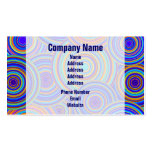Retro Blue and Orange Circles Pattern Business Card Template