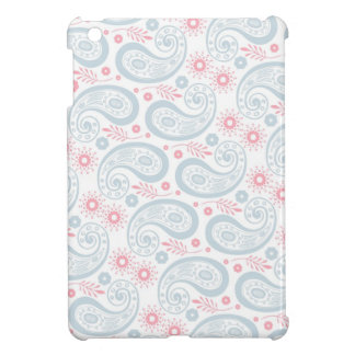 Retro Blue and Pink Paisley Pattern iPad Mini Cover
