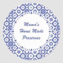 Retro Blue and White Canning Jar Labels