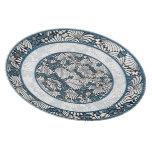Retro Blue and White Fern Custom Plates