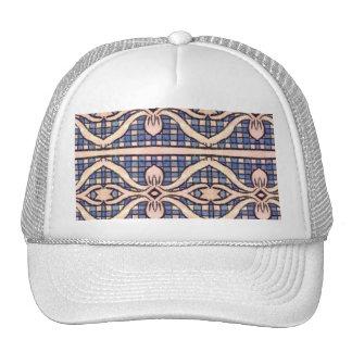 RETRO BLUE AND WHITE PAISLEY TRUCKER HATS