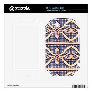 RETRO BLUE AND WHITE PAISLEY HTC SENSATION SKINS