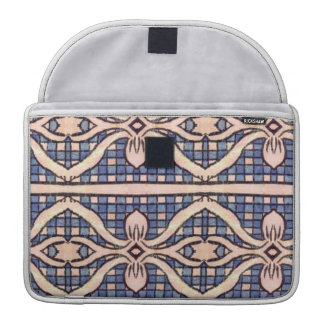 RETRO BLUE AND WHITE PAISLEY SLEEVE FOR MacBook PRO